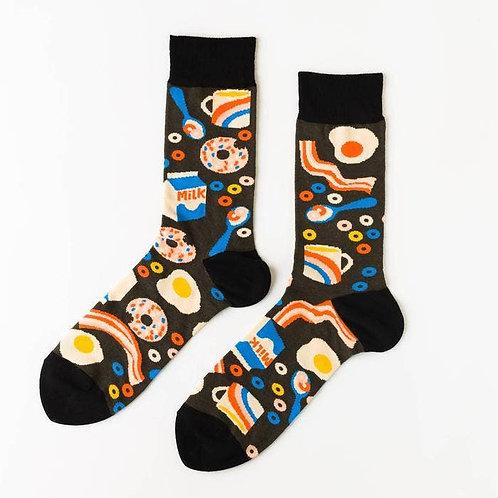 Mens Breakfast Socks