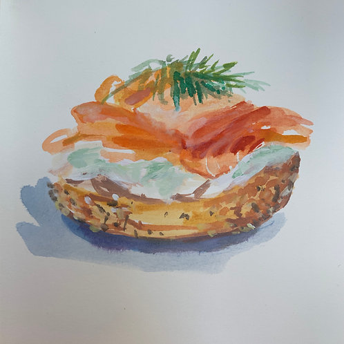Bagel with Lox & Dill