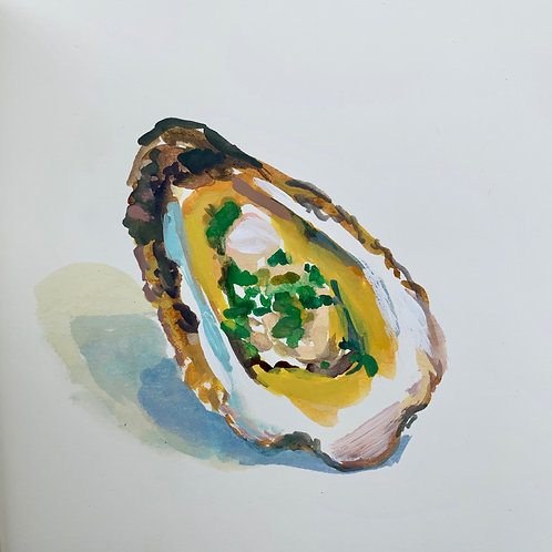 Grilled Oyster with Herb Brown Butter 1