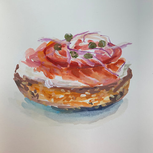 Bagel with Lox & Tomato