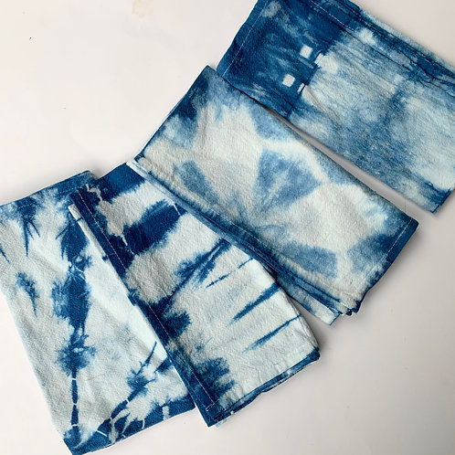 Indigo Shibori Bandana Add-On