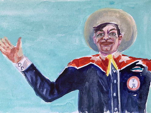 Big Tex #5 Watercolor