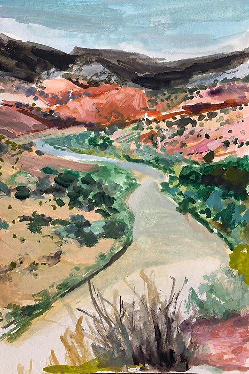 Rio Chama Watercolor