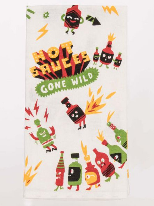 Hot Sauces Gone Wild Tea Towel