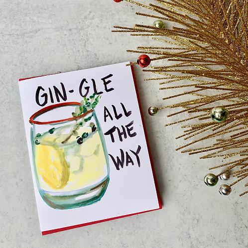 Gin-gle All the Way Card