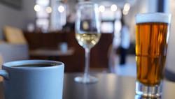 coffee, wine, beer