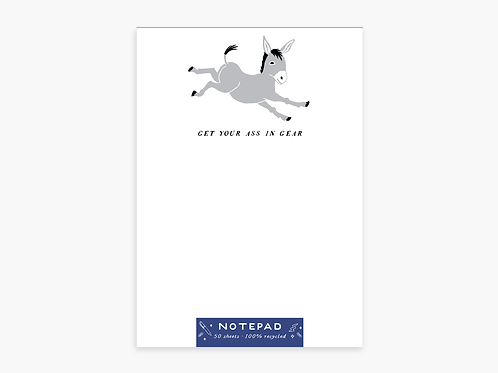 Get Your Ass in Gear Notepad