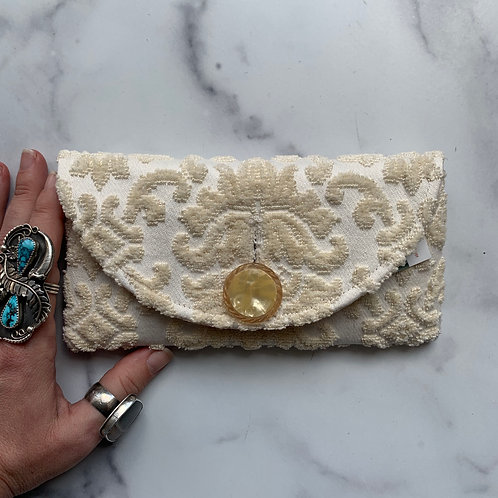 Buttercream Rounded Clutch