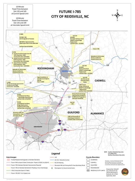 I-785 & I 840 Map 36 X 48 - Updated 9-10