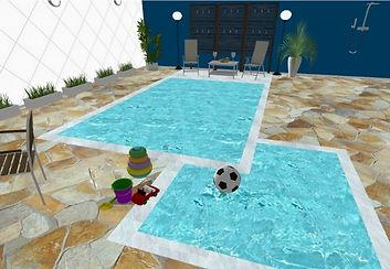 Projetos exterior - lazer - piscina - Santolli - Taubaté e região