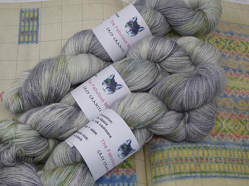 Grey Granite: 4 Ply, Fingering, Alpaca and Silk