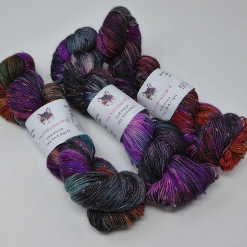 Through The Darkness: 4 Ply/Fingering, Merino/Donegal