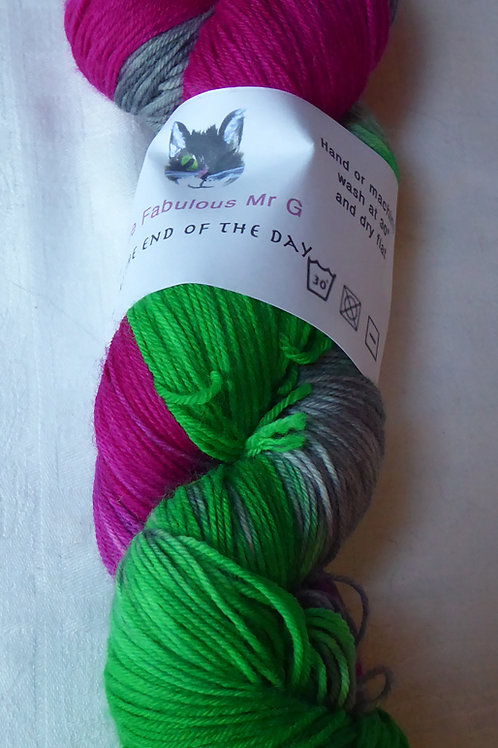 At The End of the day: 4 Ply,Fingering,Sock, 100gm