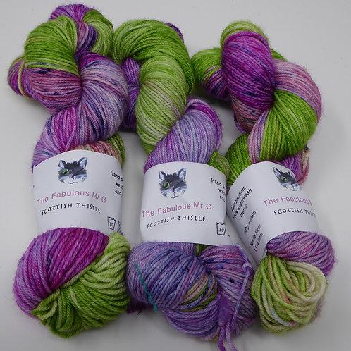Scottish Thistle: DK, Merino/Nylon, 100gms