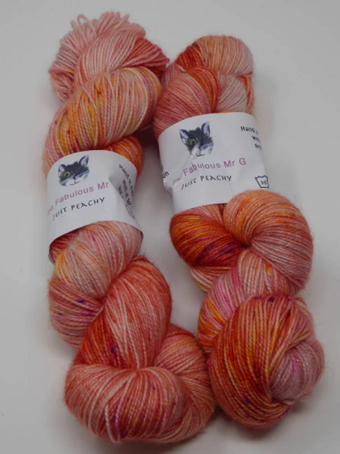 Just Peachy: 4 Ply/Fingering, Merino/Nylon
