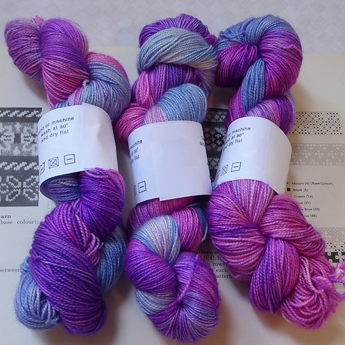 Luxury 4 Ply/Fingering: Bluebell, BFL/Silk, 100gms