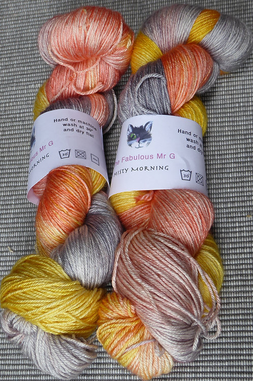 Misty Morning:4 Ply, BFL and Silk, 100gms,