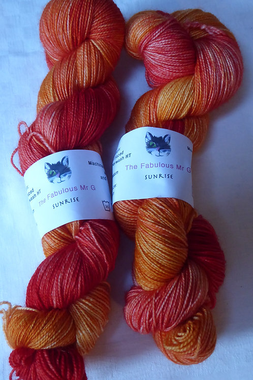 Sunrise: 4 Ply/Fingering, Blue Faced Leicester