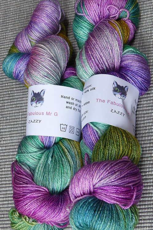Zazzy: 4 Ply, Fingering BFL and Silk, 100gms,