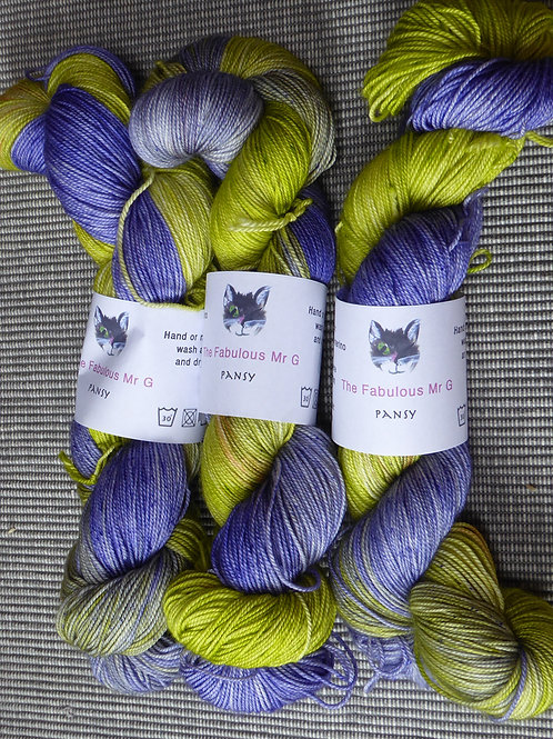 Pansy: 4 Ply, Merino/Silk/Cashmere, 100gms,
