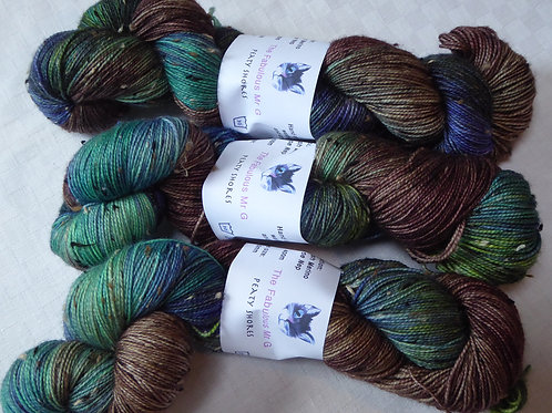 Peaty Shores:Fingering,4 Ply, Donegal Tweed,!00gms