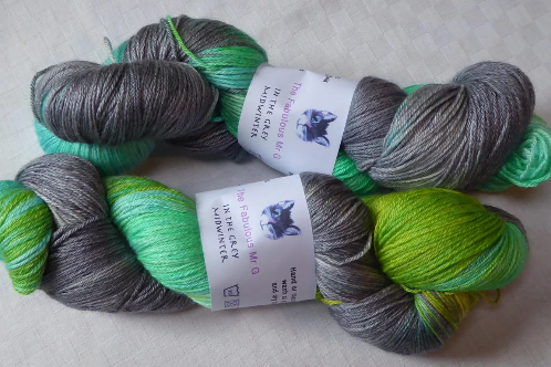 In the Grey Midwinter: 4 Ply/Fingering, Blue Faced Leicester/Silk