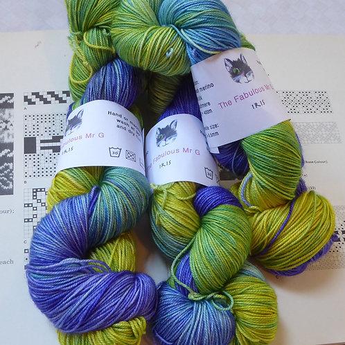 Luxury 4 Ply/Fingering: Iris, Merino,Cashmere,Silk
