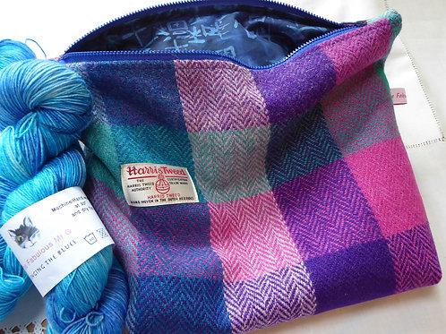 Harris Tweed Knitting Bag (large)