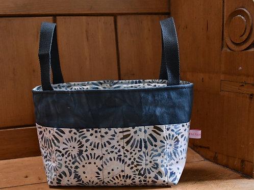 Basket: Hand Dyed Denim and Batik