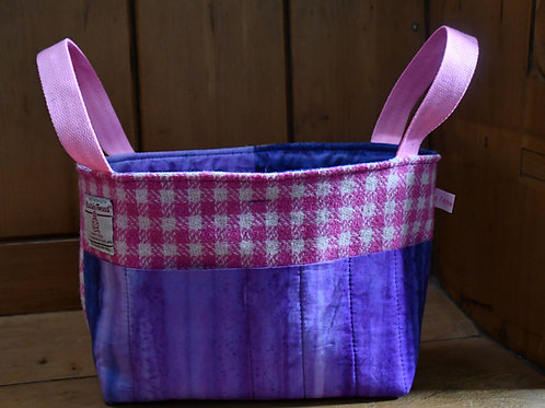 Basket: Harris Tweed and Batik
