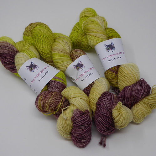 Hellebore: 4 Ply, Fingering, Blue Faced Leicester