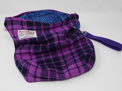 Harris Tweed Knitting/Crochet Bag (medium)
