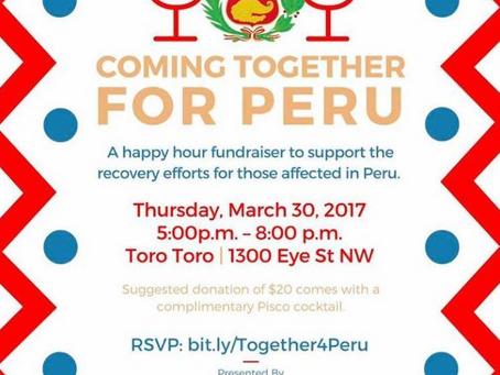 Peruanos en Washigton se unen en solidaridad por el norte del Perú