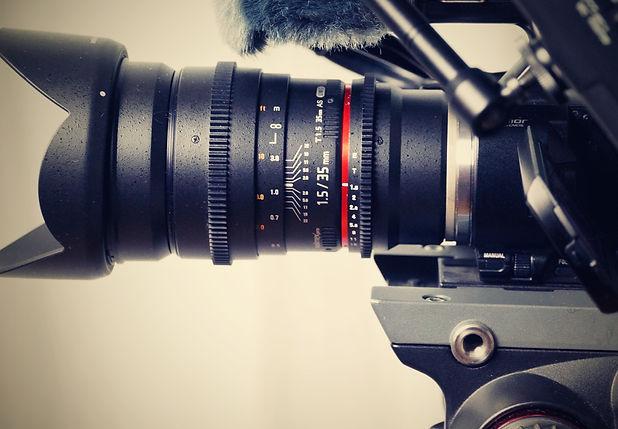Appareil photo caméra vidéo promotionnelle pub professionnel