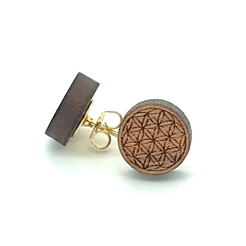 Flower of Life Post Earring