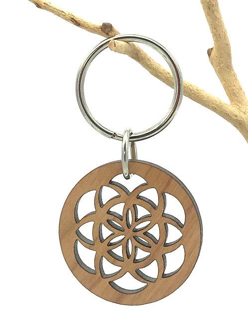 Circle Seed Key Chain