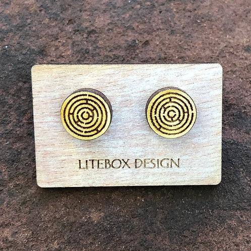Maze Post Earrings