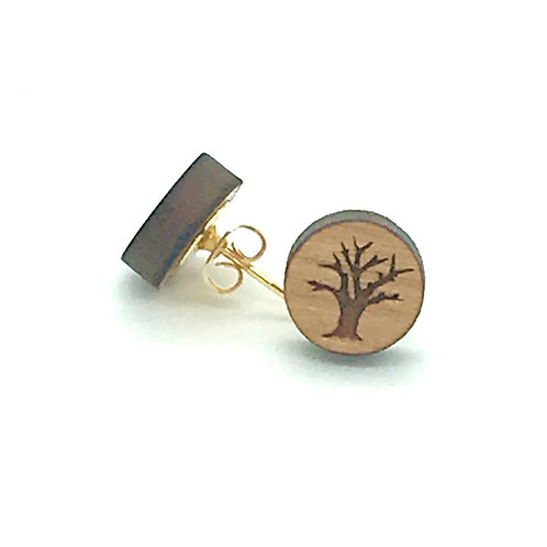 Barren Tree Post Earring