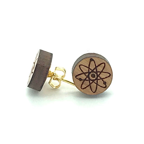 Atom Post Earring