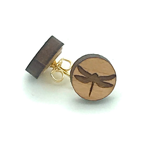 Dragonfly Silhouette Post Earring