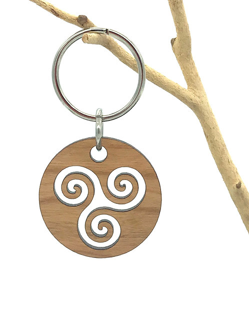 Triple Spiral Key Chain