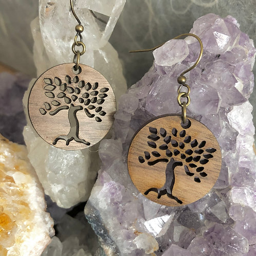 Leafy Trees Dangle Earrings