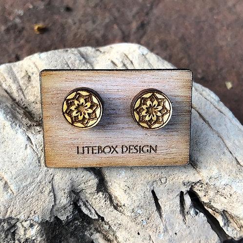 Lotus Post Earrings