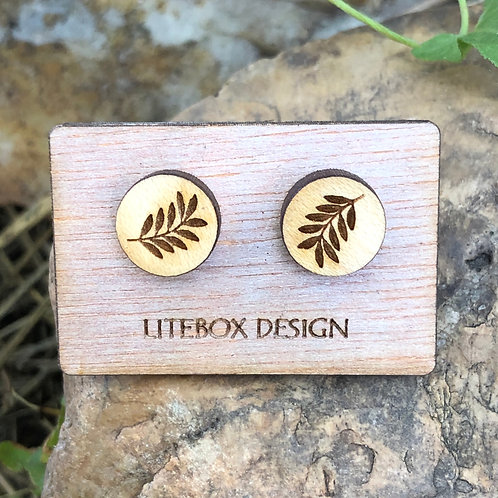 Leafy Branch Post Earrings