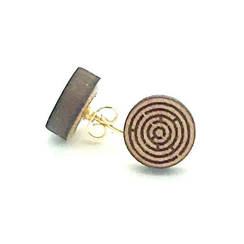 Maze Post Earring