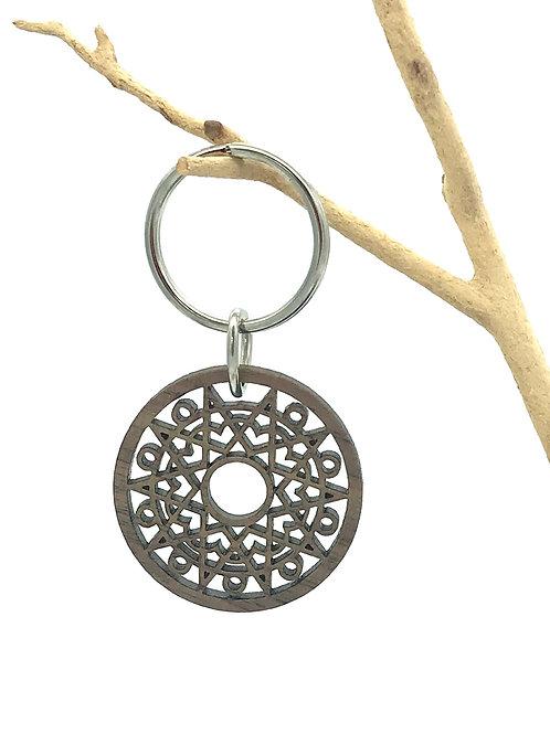 Sun Mandala Key Chain