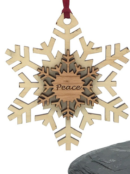 Double Layered Spikey Snowflake