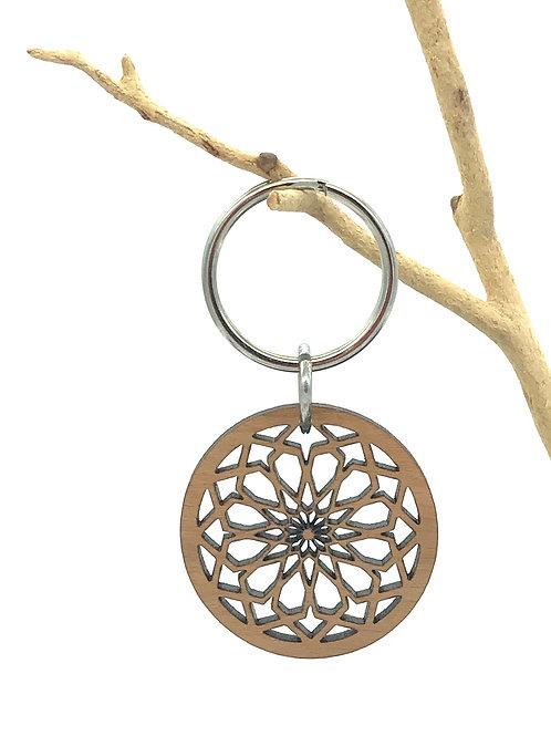 Square Rose Key Chain