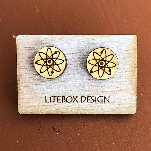 Atom Post Earrings