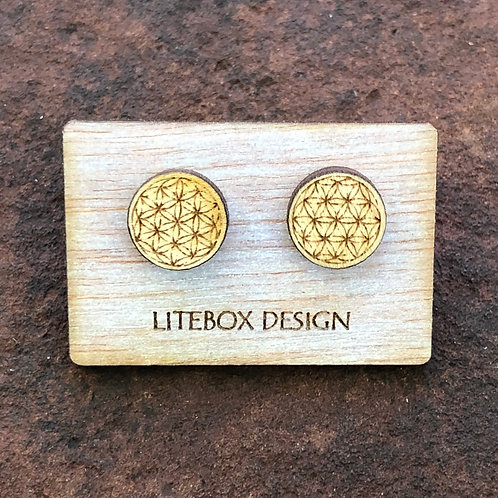 Flower of Life Post Earrings